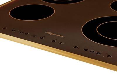 FA6RC Bronze Электрич. независимая варочная поверхность стеклокерамическая, ширина 58 см, цвет текстурная бронза, рамка цвета бронзы Изображение 3