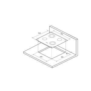 FA6RC Bronze Электрич. независимая варочная поверхность стеклокерамическая, ширина 58 см, цвет текстурная бронза, рамка цвета бронзы Изображение 4