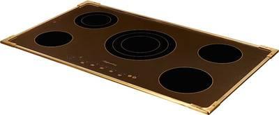 FA9RC Bronze Электрич. независимая варочная поверхность стеклокерамическая, ширина 90 см, цвет текстурная бронза, рамка цвета бронзы Изображение