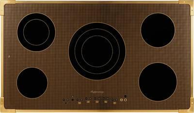 FA9RC Bronze Электрич. независимая варочная поверхность стеклокерамическая, ширина 90 см, цвет текстурная бронза, рамка цвета бронзы Изображение 2