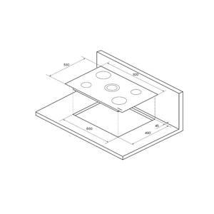 FA9RC Bronze Электрич. независимая варочная поверхность стеклокерамическая, ширина 90 см, цвет текстурная бронза, рамка цвета бронзы Изображение 4