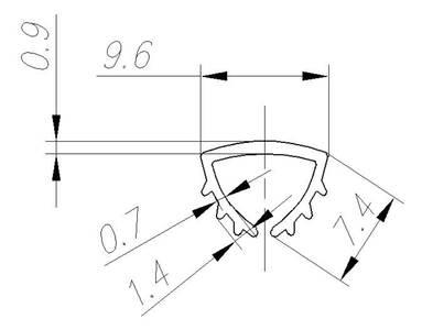 FIRMAX Уплотнитель ПВХ под вставку 8 мм, бесцветный Изображение 2