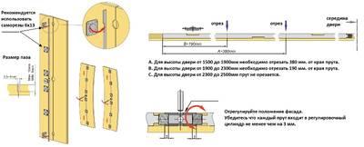 FM201 Корректор фасада врезной, L=1500-2700 мм, FIRMAX. Изображение 3