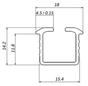 FM309 Направляющая универсальная, врезной монтаж, серебро, L=3000мм, FIRMAX. Изображение 2
