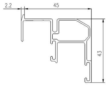 FM509 Направляющая нижняя, накладной монтаж, серебро, L=3000 мм, FIRMAX. Изображение 2