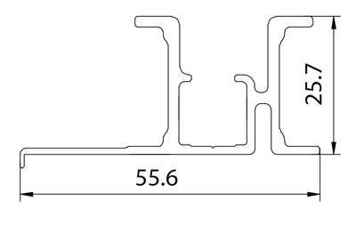 FM902 Направляющая верхняя, накладной монтаж, серебро, L=2000 мм, FIRMAX. Изображение 2