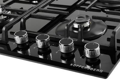 Газовая варочная поверхность Kuppersberg FQ 62 B, чёрный Изображение 2