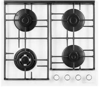 FQ 62 W Газовая варочная поверхность, закаленное стекло, ширина 60 см, цвет белый Изображение