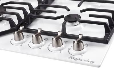 FS 603 W Silver Газовая варочная поверхность металл, ширина 60 см, цвет белый/ручки цвета серебро Изображение 3