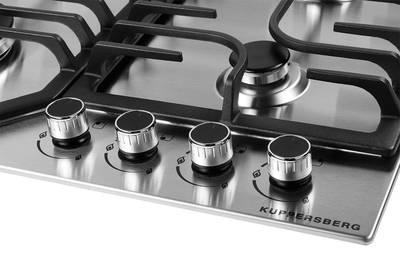 Газовая варочная поверхность Kuppersberg FS 63 X, нержавеющая сталь Изображение 3