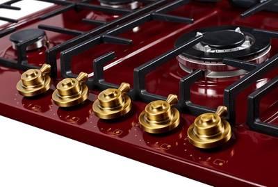 Газовая варочная поверхность Kuppersberg FV9TGRZ BOR Bronze, бордовый Изображение 3