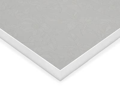 Фасад МДФ глянцевый белые цветы 628 AGT Изображение