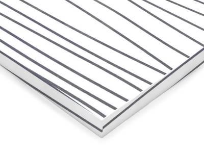 Фасад МДФ глянцевый белое серебро 621 AGT Изображение