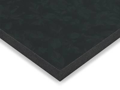 Фасад МДФ глянцевый черные цветы 629 AGT Изображение