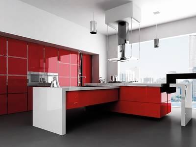 Фасад мебельный МДФ ALVIC глянцевый красный (Rojo) Изображение 2