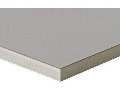 Фасад мебельный МДФ ALVIC глянцевый серый металлик (Gris Metallik) Изображение