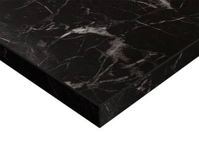 Фасад мебельный МДФ ALVIC глянцевый черный мрамор (Oriental Black) Изображение