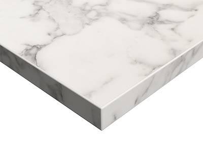 Фасад мебельный МДФ ALVIC суперматовый белый мрамор (Oriental White Supermat ZENIT) Изображение