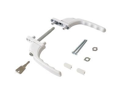 Гарнитур балконный с ключом Internika, 47 мм, белый Изображение