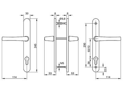 Нажимной гарнитур Roto (245/30/92/8 мм, серебро) Изображение 2