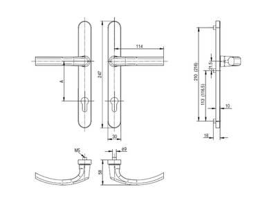Гарнитур нажимной FKS подпружиненный, бронза 30A/1005/F4/TS72 Изображение 2