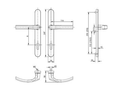 Гарнитур нажимной FKS подпружиненный, золото матовое 30A/1005/F3/TS72 Изображение 5