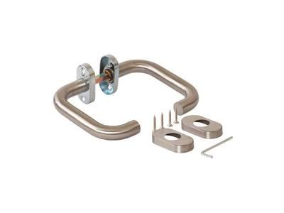 Гарнитур нажимной раздельный Elementis, кругл., +/-45°, нержавеющая сталь Изображение