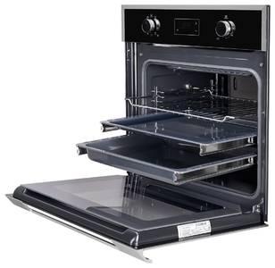 HFZ 691 BX Электрический независимый духовой шкаф, цвет Чёрный/ дверная ручка и рама из алюминия Изображение 2