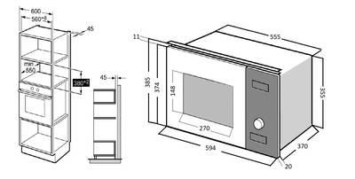 HMW 650 WH Встраиваемая микроволновая печь,цвет: белый / стеклянный фасад  Изображение 4