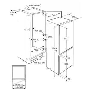 Холодильник встраиваемый RBI 250.21 DF, полезный объем 250л Изображение 7
