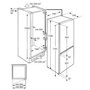 Холодильник встраиваемый RBI 275.21 DF,  полезный объем 275л Изображение 7