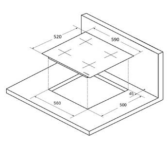 ICS 604 W Индукционная варочная поверхность стеклокерамическая,ширина 60 см, цвет белый/прямой край  Изображение 2