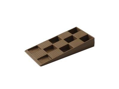 Клин монтажный Bauset 91х43х15 коричневый Изображение
