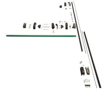 Комплект Антипаники, 2(две) точки запирания по вертикали, 1150мм, зеленый Изображение 3
