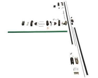 Комплект Антипаники, 3(три) точки запирания по вертикали, 1150мм, зеленый Изображение 3
