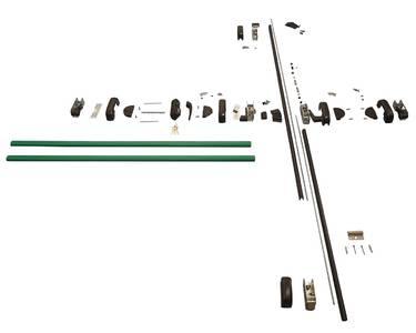 Комплект Антипаники на 2-створчатую дверь, 1+2 точки запирания, 1150мм, зеленый Изображение 3
