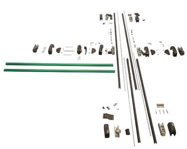 Комплект Антипаники на 2-створчатую дверь, 2+2 точки запирания, 1150мм, зеленый Изображение 3