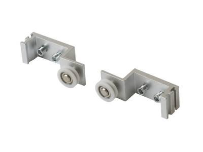 Комплект креплений ELEMENTIS, для синхронного открывания сдвижных дверей, вес двери до 50 кг Изображение 3