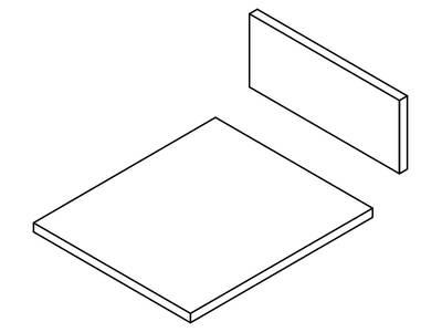 Комплект ЛДСП для ящика FIRMAX NEWLINE, L=500 W=800 H=199 Изображение