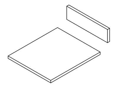 Комплект ЛДСП для ящика FIRMAX NEWLINE, L=500 W=500 H=84 Изображение