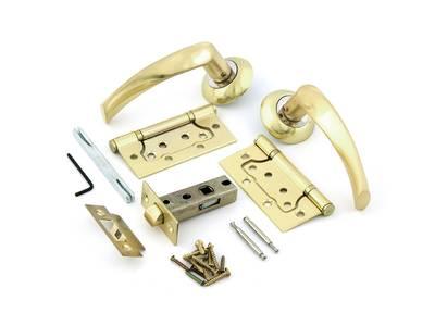 Комплект для двери Фабрика замков FZ SET 03-C 100 2H, матовое золото Изображение