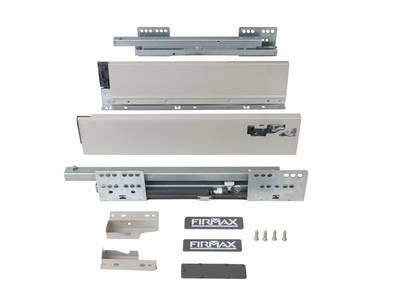 Комплект для ящика 500 мм Firmax Newline, 84мм с доводчиком, серый Изображение 2