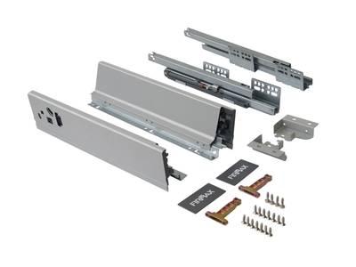 Комплект для ящика Firmax 400 мм, H83мм с доводчиком, серебристый Изображение 2