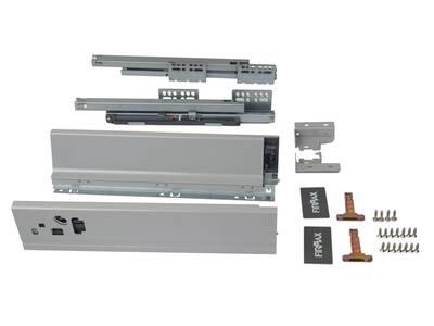 Комплект для ящика Firmax 400 мм, H83мм с доводчиком, серебристый Изображение 3
