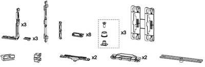 Комплект фурнитуры GS1000-ML, Европаз, 09780000 Изображение 2