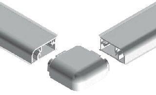 Комплект к плинтусу (90° внешний и внутренний углы по 2шт., 135° угол, 2 заглушки 5 подст.) пластик, серый FIRMAX Изображение 5