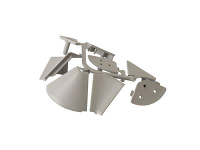 Комплект соединителей треугольного пристеночного бортика FIRMAX (внутренние и внешние 90 градусов, 2 заглушки), пластик, серый Изображение