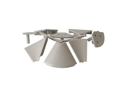 Комплект соединителей треугольного пристеночного бортика FIRMAX (внутренние и внешние 90 градусов, 2 заглушки), пластик, серый Изображение 2