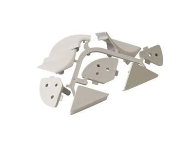 Комплект соединителей треугольного пристеночного бортика FIRMAX (внутренние и внешние 90 градусов, 2 заглушки), пластик, серый Изображение 3