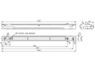 Комплект: клапан приточный  EMM, 5-35 м3/ч, козырек ASAM, белый, EMM707 Изображение 2